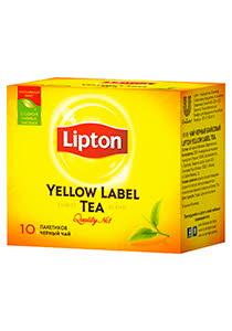 Lipton Yellow Label черный чай, 10 пак.