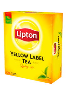 Lipton Yellow Label черный чай, 100 пак.