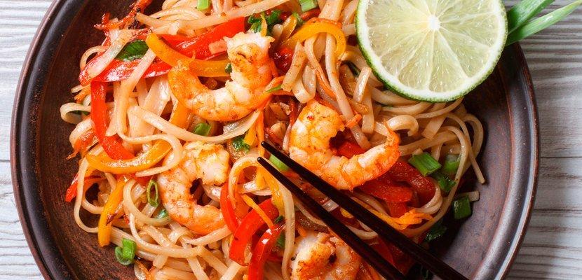 Острая паста из морепродуктов (0,5кг) - Вок-меню - новый способ привлечь гостей.