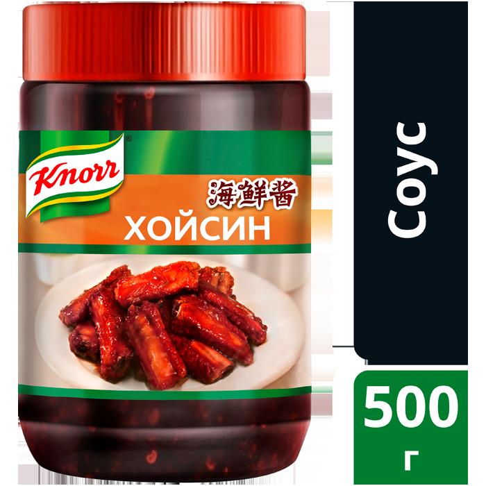 Соус Хойсин (0,5кг) - KNORR Хойсин обладает сладким пряным вкусом и придаст блюдам насыщенный темно-красный цвет.