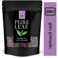 PURE LEAF черный чай листовой Berries (200г)