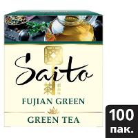 SAITO чай зеленый в сашетах Fujian Green (100шт)