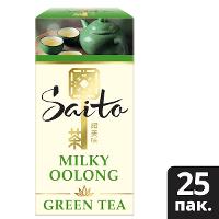 SAITO чай зеленый в сашетах Milky Oolong с ароматом молока (25шт)