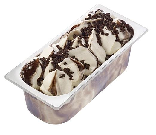 Carte D'Or Замороженный десерт Ваниль-Шоколадное печенье (3120 г)  - Настоящие кусочки шоколадного бисквита