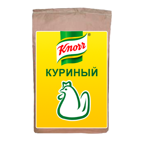 KNORR Бульон куриный Сухая смесь (25кг) - Бульоны KNORR придадут Вашим блюдам насыщенный вкус и аромат.