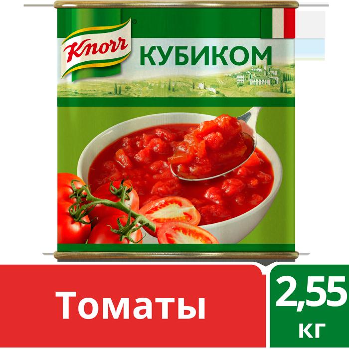 KNORR Консервированные овощи Итальянские томаты кубиком (2,55кг)