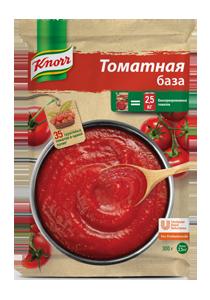 KNORR Томатная база (6x300 г) - Насыщенная сбалансированная томатная база за 1 минуту
