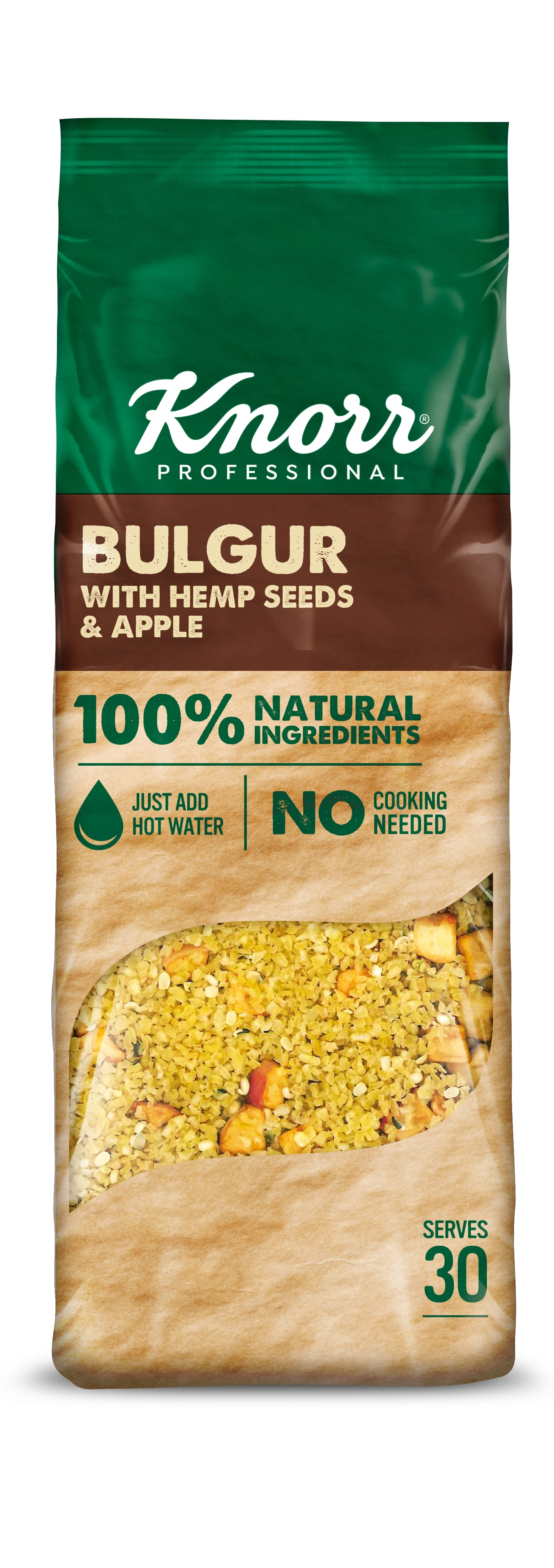 Knorr Professional Булгур с семенами конопли и яблоками (650 г) - Подходит для вегетарианцев и веганов