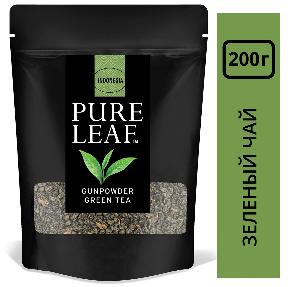 PURE LEAF зеленый чай листовой Gunpowder (200г) - Крупнолистовой чай