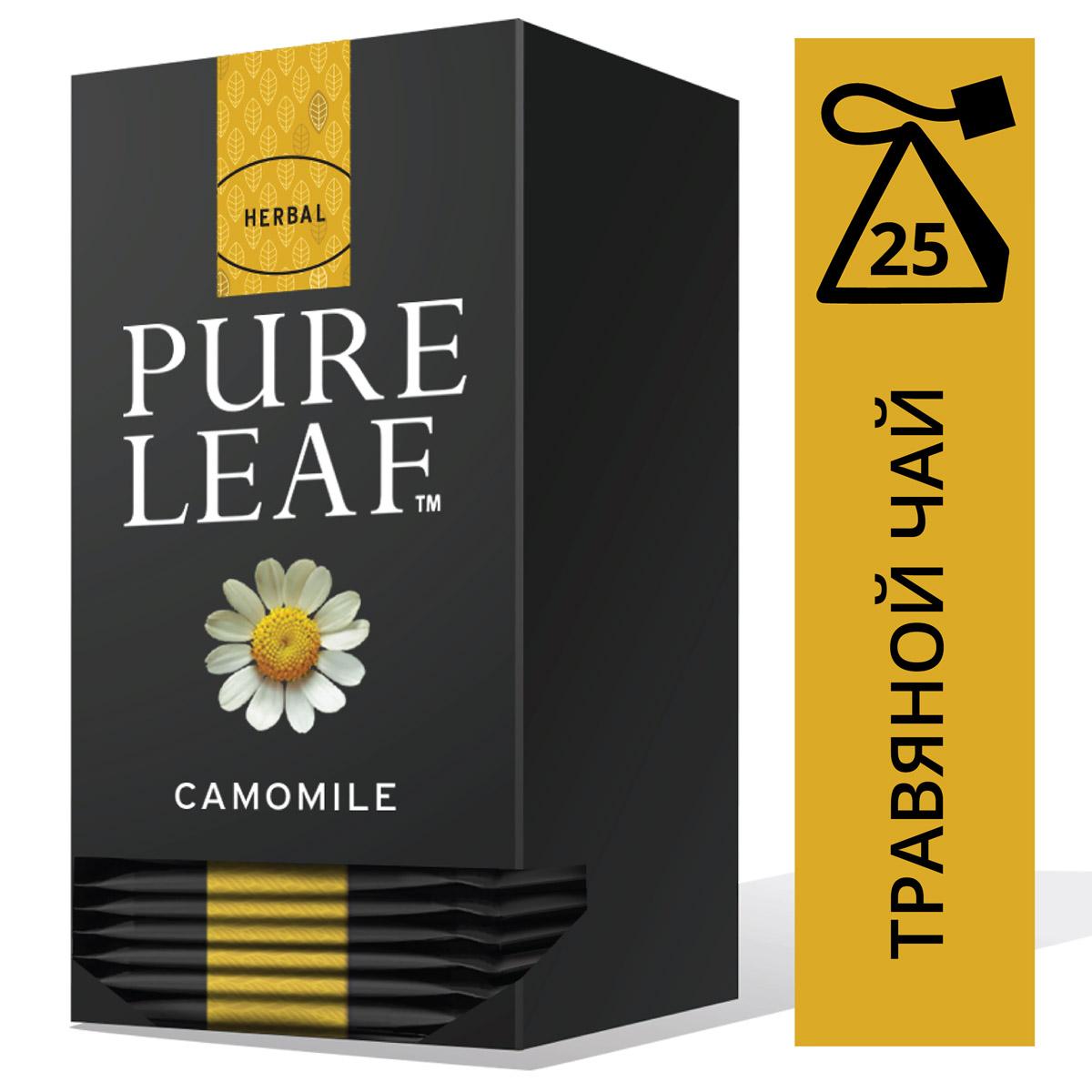 PURE LEAF травяной напиток в пакетиках Camomile (25шт) - Крупнолистовой чай