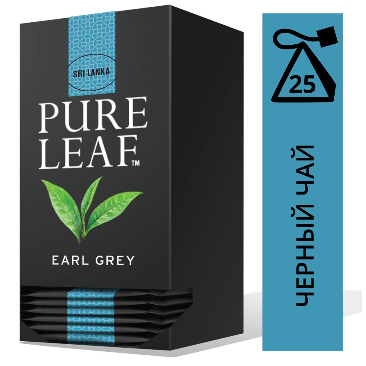 PURE LEAF черный чай в пакетиках Earl Grey (25шт) - Крупнолистовой чай