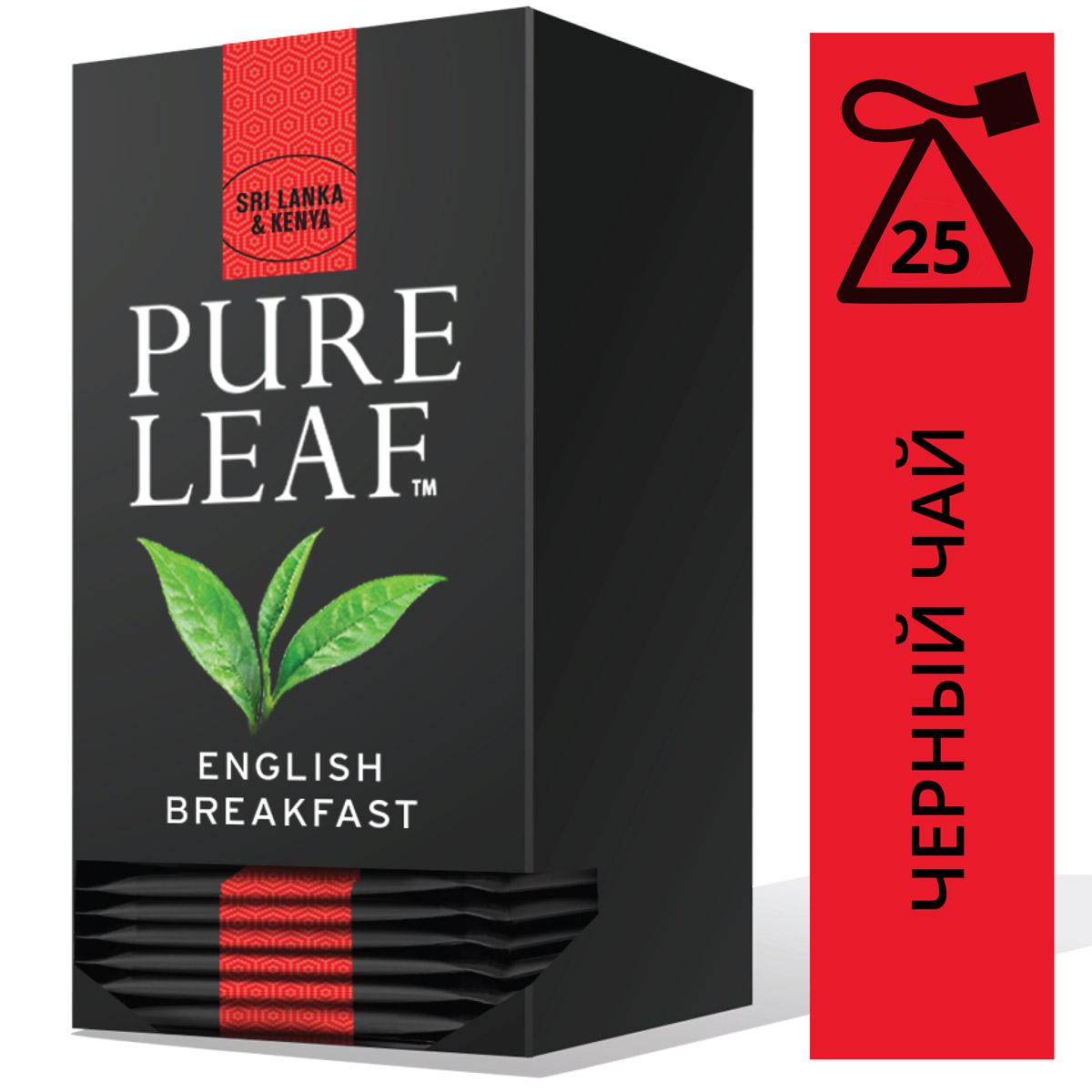 PURE LEAF черный чай в пакетиках English Breakfast (25шт) - Крупнолистовой чай