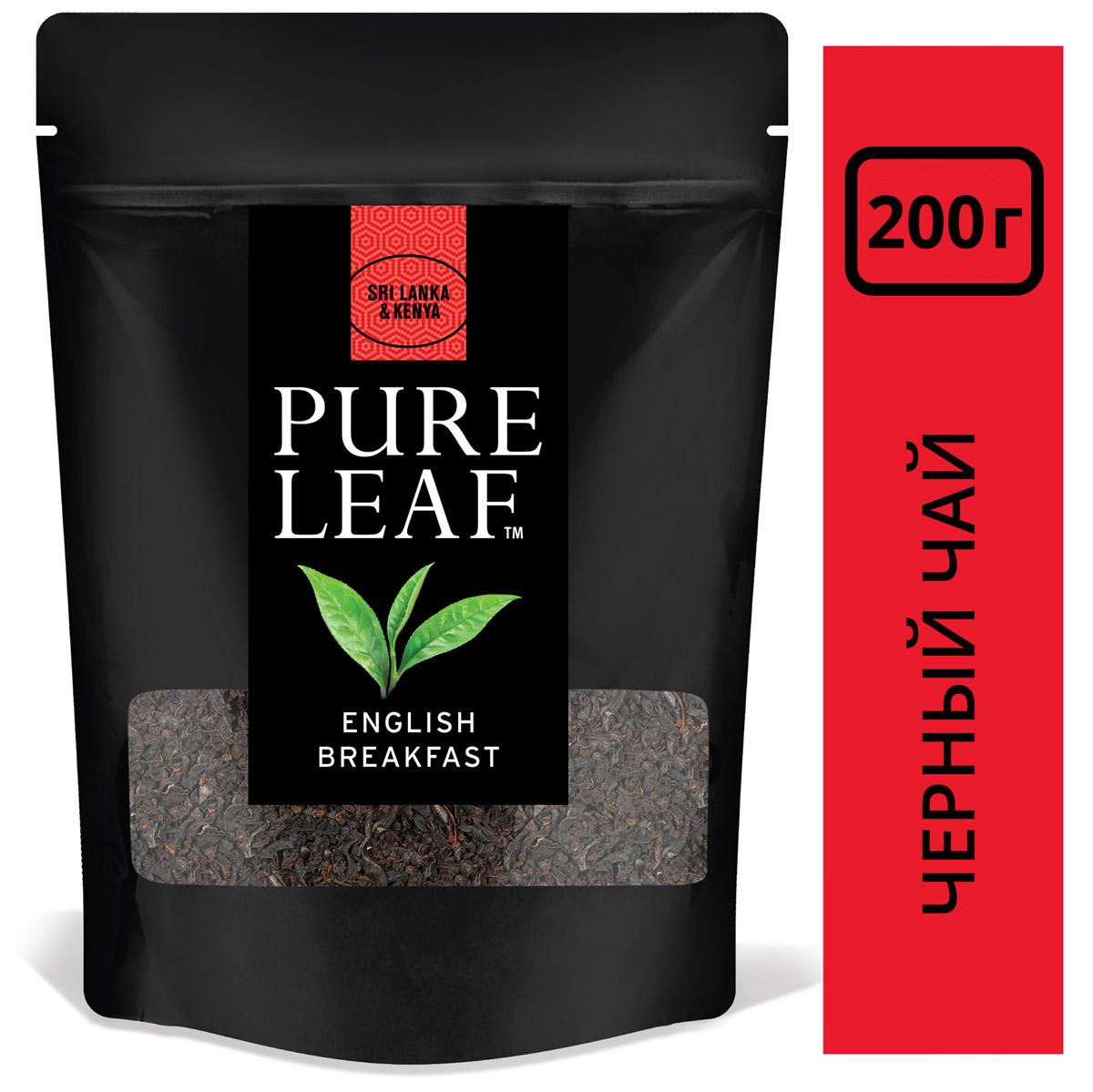 PURE LEAF черный чай листовой English Breakfast - Крупнолистовой чай