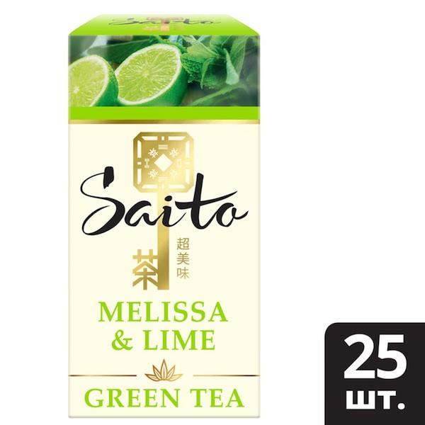 SAITO чай зеленый в сашетах Melissa & Lime с ароматом лайма и мелиссой (25шт) - Чайная церемония – особый ритуал, который помогает не только насладиться вкусом чая, но и изменить качество восприятия мира вокруг. Открываются чувства, пробуждаются мысли, и мы начинаем замечать больше деталей.