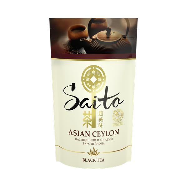 SAITO чай черный листовой Asian Ceylon - Saito чай черный листовой Asian Ceylon 80 гр