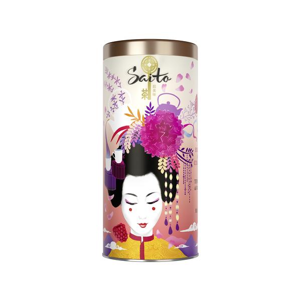 SAITO чай чёрный листовой с лепестками розы и кусочками малины - Saito чай чёрный листовой с лепестками розы и кусочками малины 80 гр