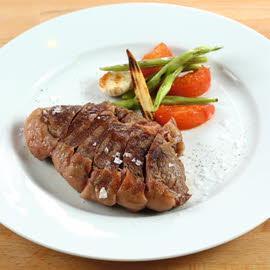 Сирлойн-Флэп стейк с овощным гарниром