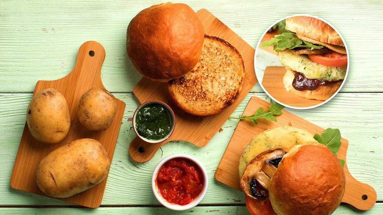 Картофельная булка для бургера