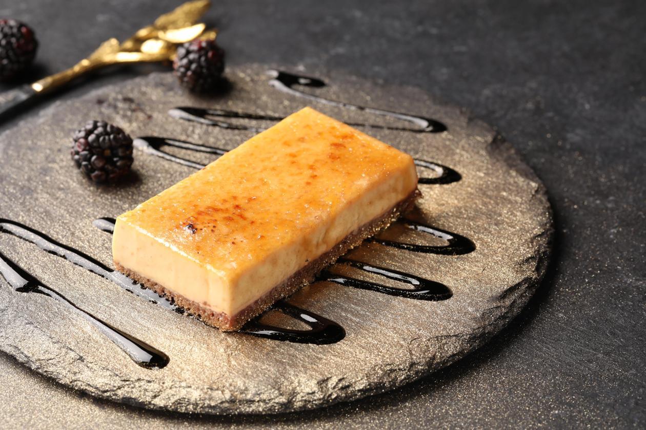 Крем-брюле с бородинским хлебом