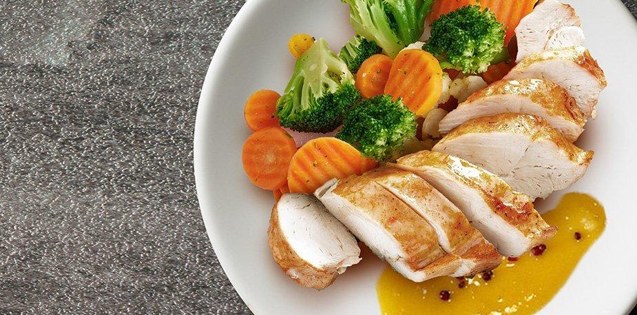 Куриное филе с апельсиново-имбирным соусом