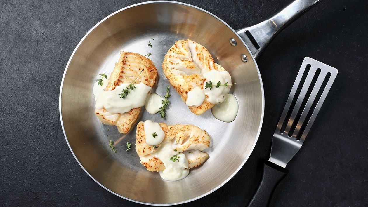 Рыба с соусом Белое вино