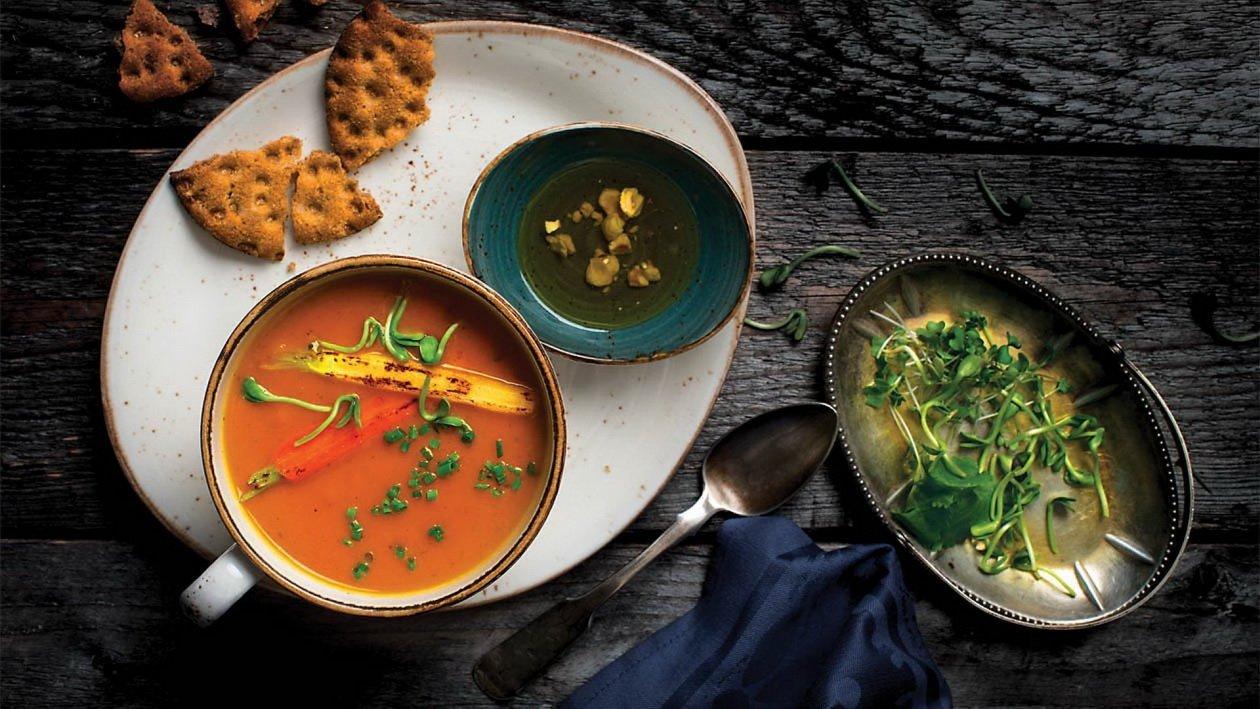 Суп-пюре из моркови и батата