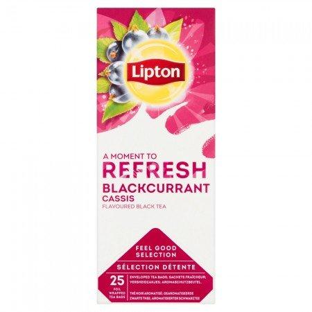 Lipton Blackcurrant Tea Чай чорний зі шматочками чорної смородини 25 пакетиків в сашетах -