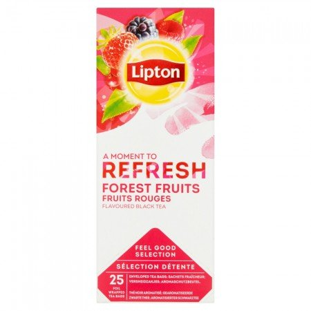 Lipton Forest Fruit Tea Чай чорний зi шматочками ягiд 25 пакетиків в сашетах -