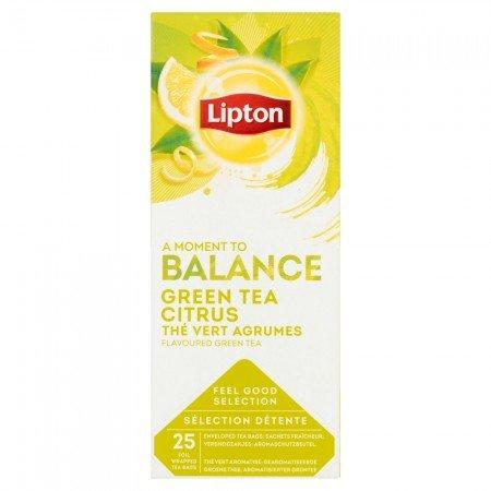 Lipton Green Tea Citrus Чай зелений з цедрою цитрусових 25 пакетиків в сашетах -