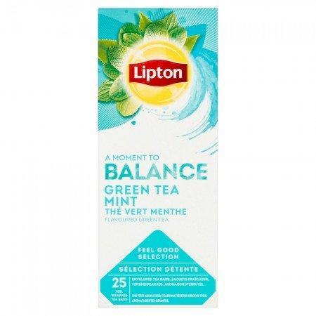 Lipton Green Tea Mint Чай зелений з м'ятою 25 пакетиків в сашетах