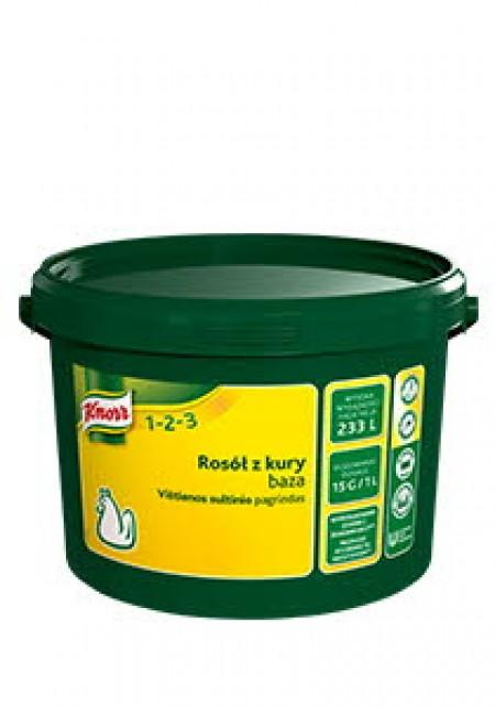 Knorr 1-2-3 Бульйон Курячий 3,5 кг - Справжній смак курки у вигляді концентрованого бульйону.