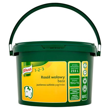 Knorr 1-2-3 Бульйон Яловичий 3.5 кг - Справжній смак яловичини у вигляді концентрованого бульйону.