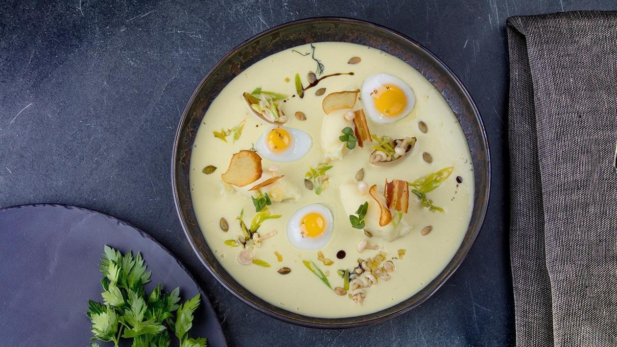 Крем-суп з запеченої картоплі – Рецепти