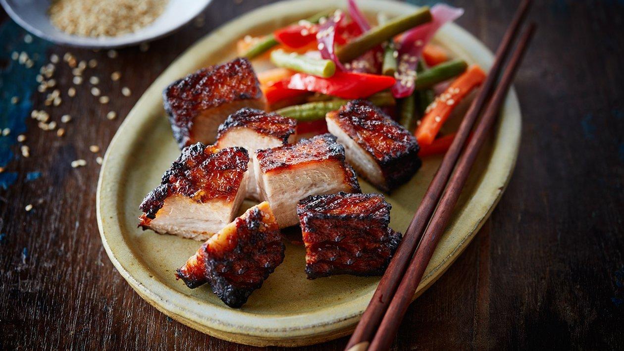 Свиняча грудинка в східному стилі «BBQ» – Рецепти