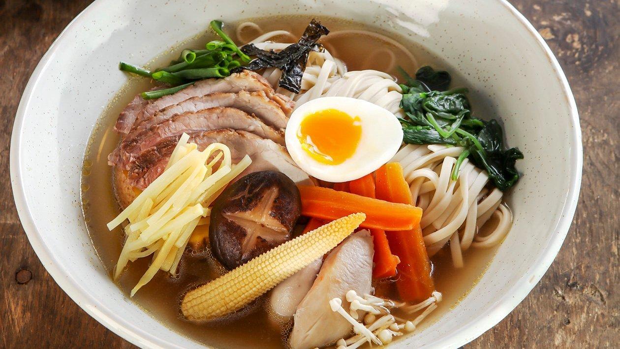 Суп Рамен з двома видами м'яса та рідким яйцем – Рецепти