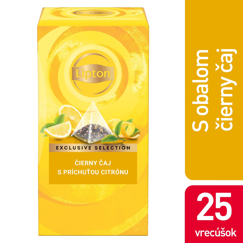 Lipton Čierny čaj s príchuťou citróna 25x1,7g