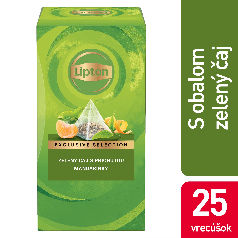 Lipton Zelený čaj s príchuťou mandarinky a pomaranča 25x1,8g -