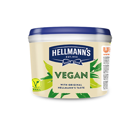 Hellmann's Vegan 2,5 kg - Perfektný doplnok k vegetariánskym a vegánskym jedlám.