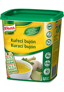 Knorr Kurací bujón 0,9kg - Knorr bujóny dodávajú chuť, farbu a správnu konzistenciu polievkam a jedlám.