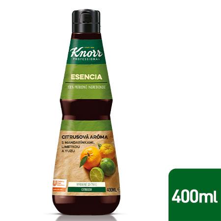 Knorr Professional Esencia s intenzívnou chuťou citrusov 0,4 l - Vyrobená z ingrediencií ako mandarínka, perská limetka alebo ovocie yuzu.
