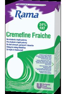 Rama Cremefine Profi Fraiche 1l - Produkt RamaCréme Fraiche 24%je profesionálny a spoľahlivý pomocník.