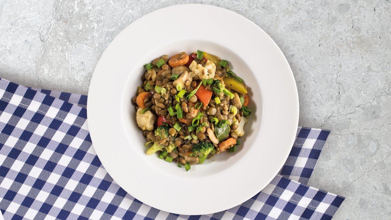 Dusená šošovica so zeleninou