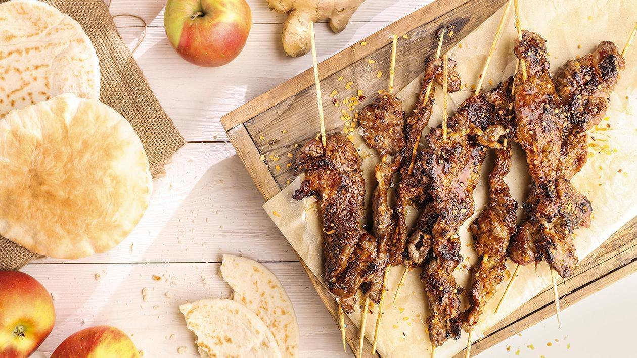 Hovädzie mäso marinované v jablkovej šťave a zázvore