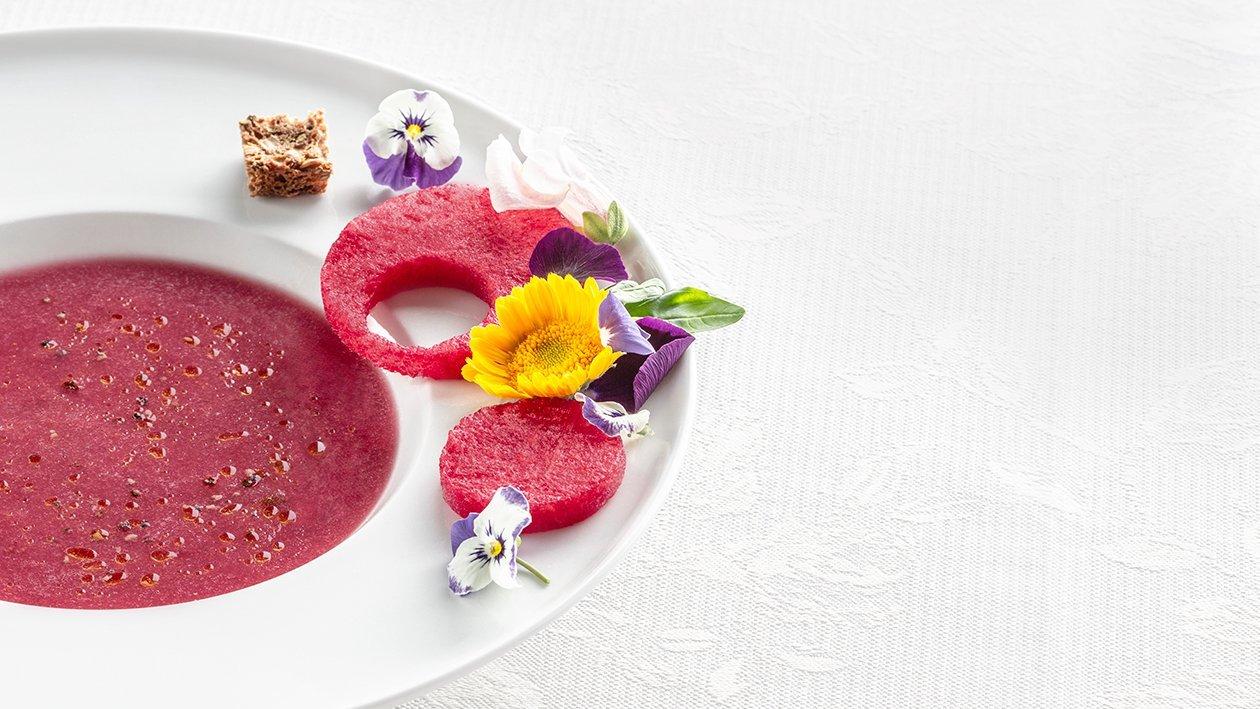 Melónovo – jahodová polievka