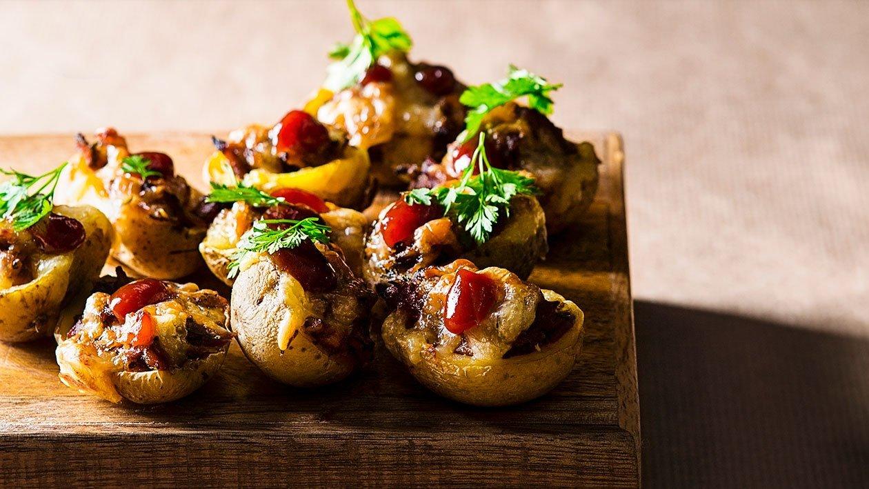 Plnené mini zemiaky s hovädzím mäsom