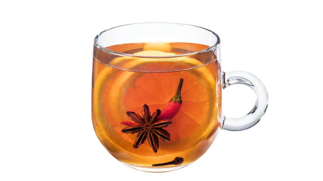 Pomarančový a čili čaj