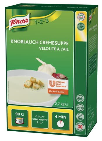 Knorr Česnova kremna juha 2,7 kg