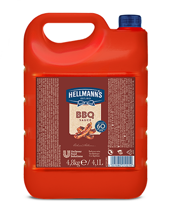 Hellmann's BBQ Omaka za žar 4,8 kg - Hellmann's omaka za žar - avtentičen BBQ okus in idealna tekstura v vseh jedeh.