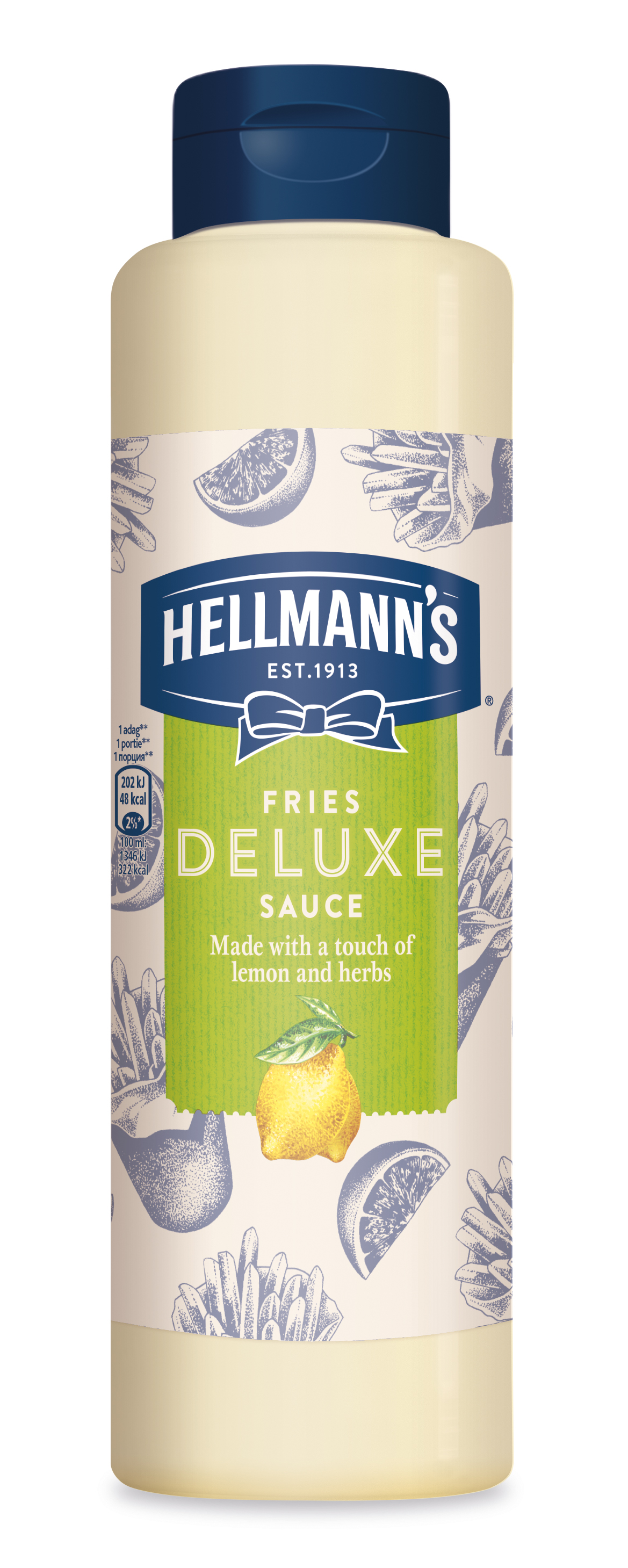 Hellmann's Fries Deluxe preliv z limono in zelišči 850 ml