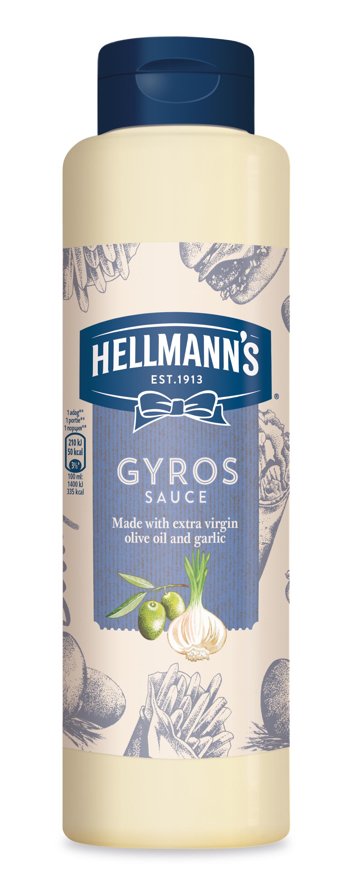 Hellmann's Gyros preliv z ekstra deviškim oljčnim oljem in česnom 850 ml